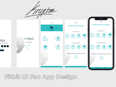 fitbit fan UIUX app figma concept design branding app ux ui funart