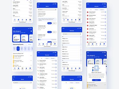Phone Call Application - CallStop popup calendar contact list phone app contacts dashboard ui dashboard ios app design ios app ios phone mobile app design ux ui