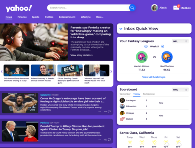 Yahoo Landing Page Redesign