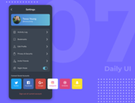 Daily UI 007 - Settings Page