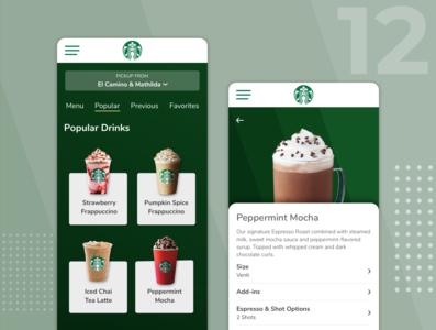 Daily UI 12 - Single Item Product Page redesign concept ecommerce product starbucks dailyui012 dailyui12 ux ui dailyui