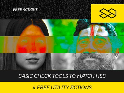 4 Free Utility Actions light and shadow action photography check layers find lights and shadows match saturation match luminosity match color brightness saturation hue luminosity color photoshop action free actions actions photoshop freebie free