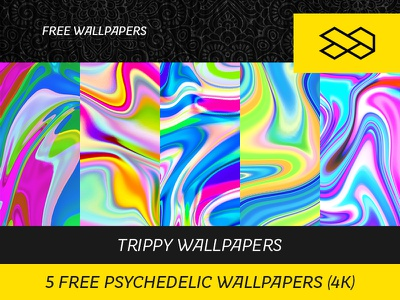 5 FREE psychedelic WALLPAPERS (4k) vaporwave waves photoshop psychedelic trippy abstract wall art 4k background wallpapers freebie free