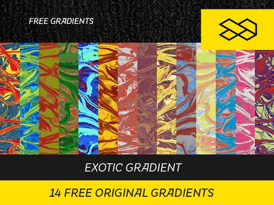 14 Free Original Gradients colorfull set photoshop maps gradient freebie free exotic colorful collection backgroud color