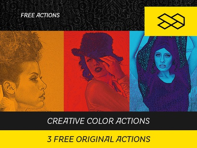 3 Free Original Actions creative canvas style sketch professional handdraw drawing draw artistic art abstract actions photoshop freebie free
