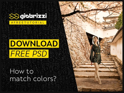 Free Tutorial Photoshop [How to match Colors] photoshop cc free tutorial color grading correzione colore photo manipulation compositing in photoshop tutorial photoshop in italiano free tutorial photoshop giobrizzi match subject with background color matching how to match colors in photoshop match colors