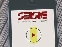SEISME - Shot of the app UI
