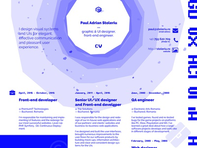 Hire ME! blue paul spades design print cv