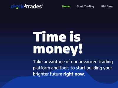 Clicktrades Home Desktop - crop2 contrast design ui website