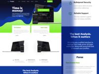 Clicktrades - Initial Website Mockup mockup ui web website