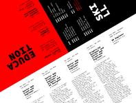 cv 2019 - modernist print version flat design paul spades typography print slanted red international style swiss-style modernism cv