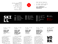 cv 2019 - digital version typography flat paulspades paul spades design
