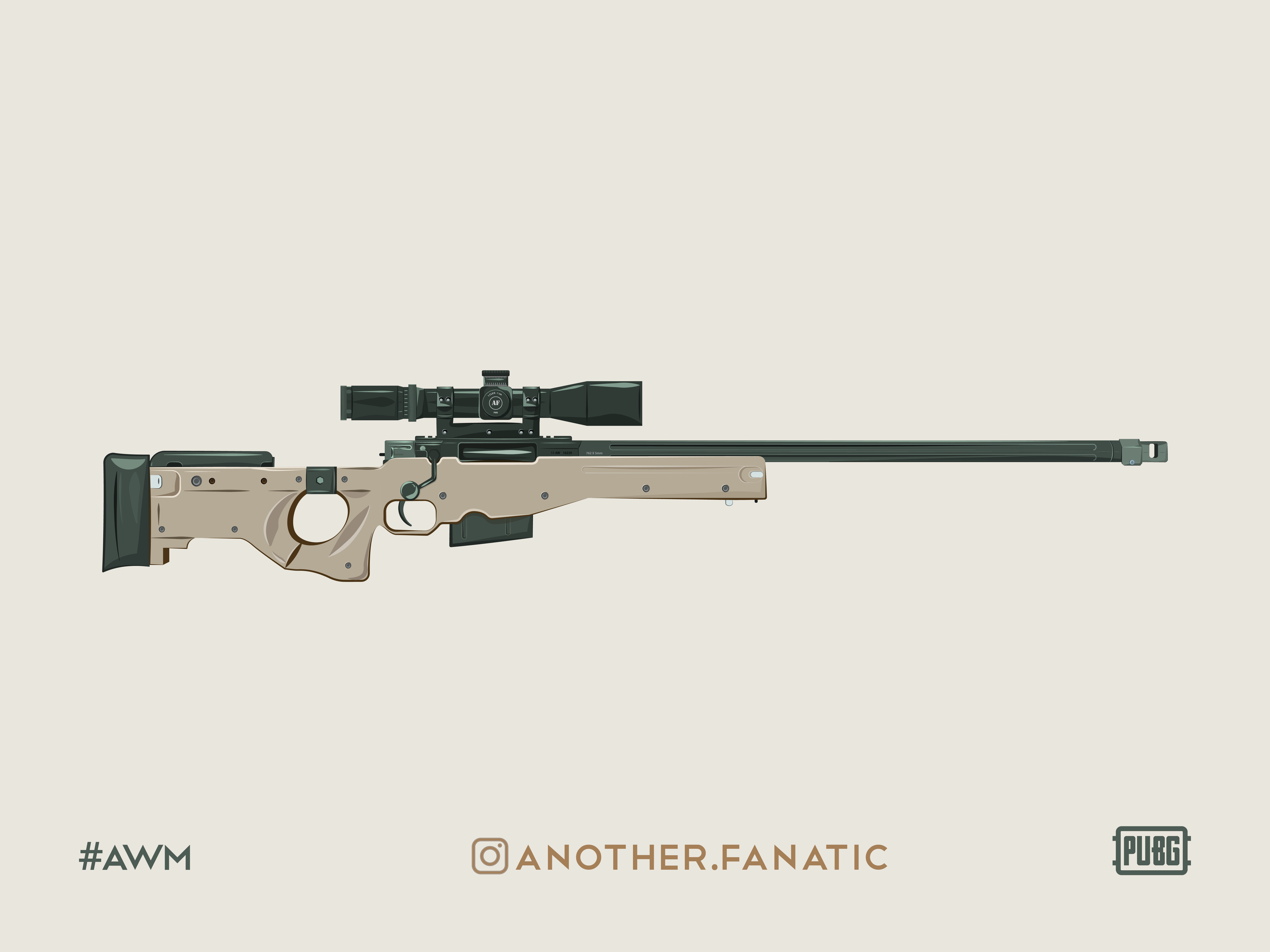 AWM Sniper Rifle - PUBG by Another Fanatic on Dribbble