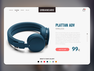 Urbanears | Concept Light headphones music urbanears plattan shoping card website ui