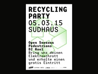 Recycling Party Poster