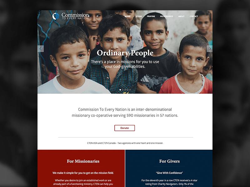 CTEN Home page sketch app non-profit webdesign website