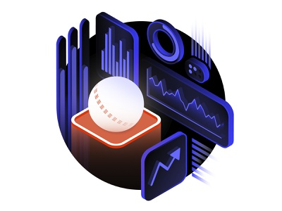 The Stock Market Experience isometric analytics data visualization spot illustration ux ui graph data dataviz cricket sports stock market branding graphic design vector illustration vector 3d illustration illustrator design
