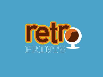 RETRO PRINTS blue and orange affinity retro print retro thirtylogos thirtydaylogochallenge typography logo branding affinitydesigner design