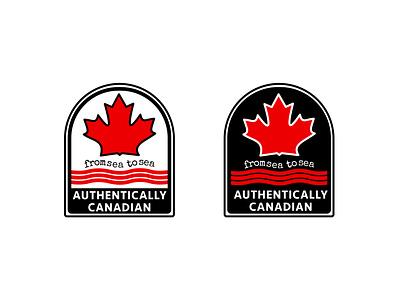 AUTHENTICALLY CANADIAN labeldesign label canada thirtylogos flat thirtydaylogochallenge affinity logo affinitydesigner design