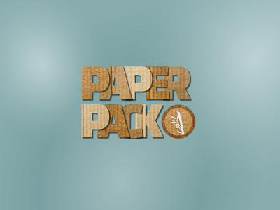 PaperPack 30 day logo challenge 30daychallenge cardboard 30logos thirtylogos thirtydaylogochallenge typography branding affinity logo design affinitydesigner