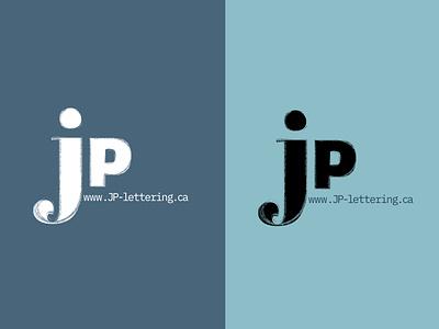 JP Lettering blue thirtylogos thirtydaylogochallenge typography affinity logo affinitydesigner