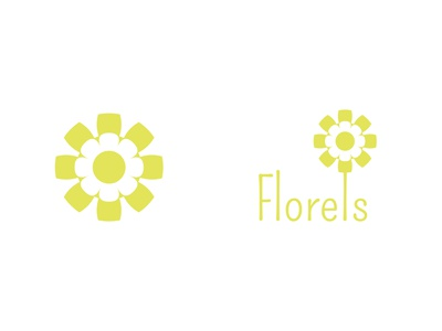 Florels (or is it Florals, the brief spelled it both ways!?) florals florels flower yellow icon flat thirtylogos thirtydaylogochallenge affinity logo affinitydesigner