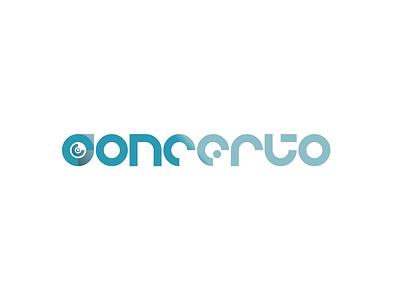 Concerto thirtylogos blue thirtydaylogochallenge typography affinity logo affinitydesigner