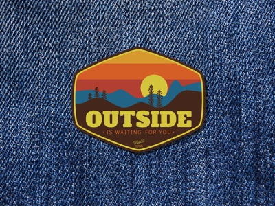 Outside is waiting for you patch design badges badge design badgedesign badge patch illustration vector affinitydesigner design
