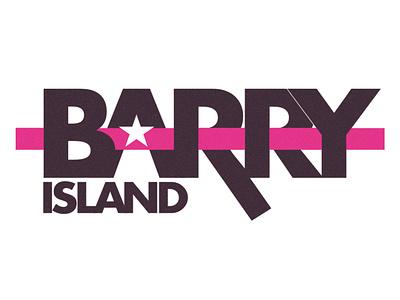 BARRY ISLAND vintage logo design vintage logos vintage logo vintage retro tshirt design tshirtdesign tshirt art barry hometown wordmark typography branding affinity logo affinitydesigner design
