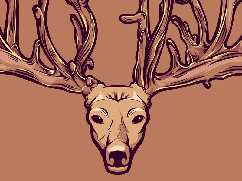 Deer Illustration inspiration graphic design woodcut deer illustration vector illustration vectorart vector illustration
