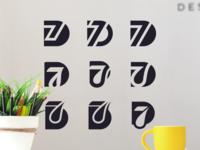 D7 set logo design