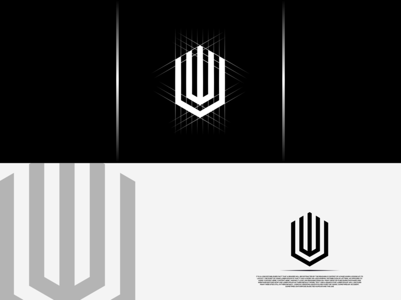 UW logo design lettering design logo vector icon letter monogram logotype logouw designer logos logo design