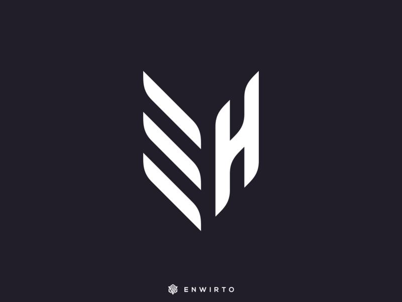 EH Monogram logo design web app branding minimal design logo lettering vector logo icon designer design