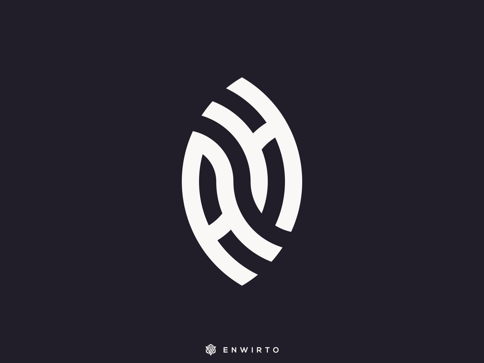 Ah Monogram Logo By Enwirto On Dribbble