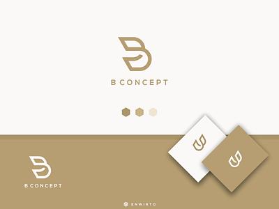 B Concpet Logo typography app branding minimal design logo logo lettering vector design icon b
