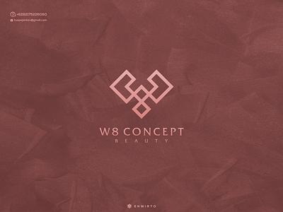 W8 Concept Logo Design typography app branding minimal design logo lettering vector design logo design logos logo icon