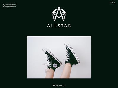 Allstar Concept Logo Design animation web typography branding minimal design logo logo lettering vector design icon allstar