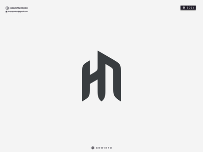 HN Concept Logo Design logos animation web typography app branding minimal design logo logo lettering vector design icon hn