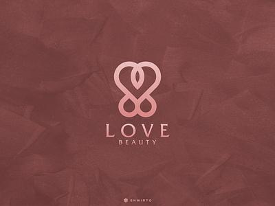 Love Concept Logo web typography app branding minimal design logo logo lettering vector design icon