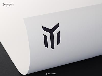 M Concept Logo typography app branding minimal design logo logo lettering vector design icon music