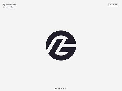 LG Concept Logo typography app branding minimal logo design logo lettering vector design icon
