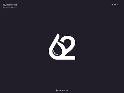62 Water Concept Logo app branding minimal logo design logo lettering vector water 62 design icon