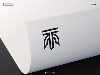 TM Concept Logo app typography branding minimal logo design logo lettering vector design icon