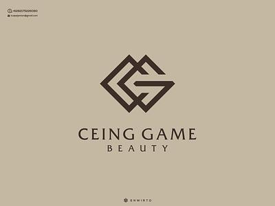 CG Concept Logo typography app branding minimal logo design logo lettering vector design icon