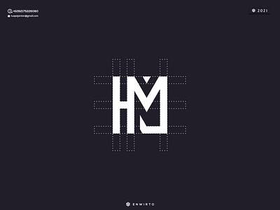 HM Concept Logo Design typography app branding minimal logo design logo lettering vector design icon