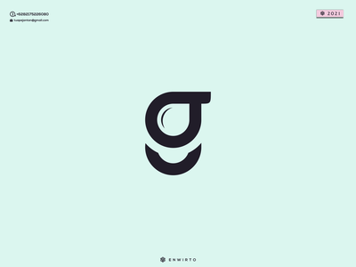 G Water Concept Logo typography app branding minimal logo design logo lettering water vector design icon