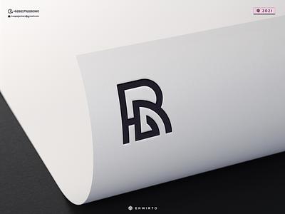 HRG or RG Concept Logo typography app branding minimal logo design logo lettering vector design icon