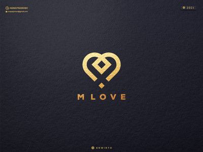 M LOVE Concept Logo typography app branding minimal design logo lettering vector design logo love icon