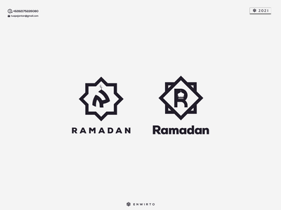 RAMADHAN Which one Better Logo ? typography app branding minimal logo design logo lettering vector design icon ramadhan