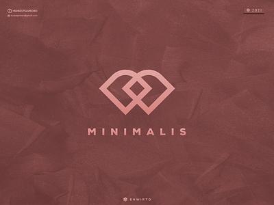 MINIMALIS Concept Logo Design typography app branding minimal logo design logo lettering vector design icon minimalist